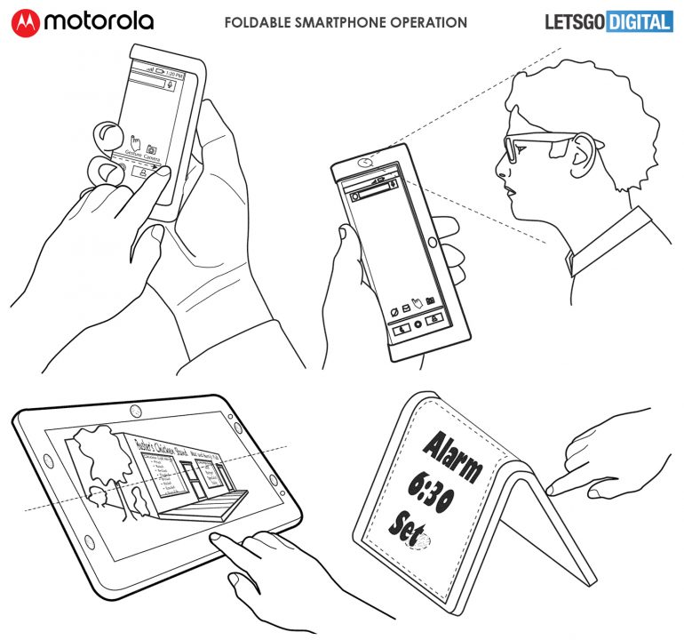 Patent filing reveals a foldable Motorola smartphone with