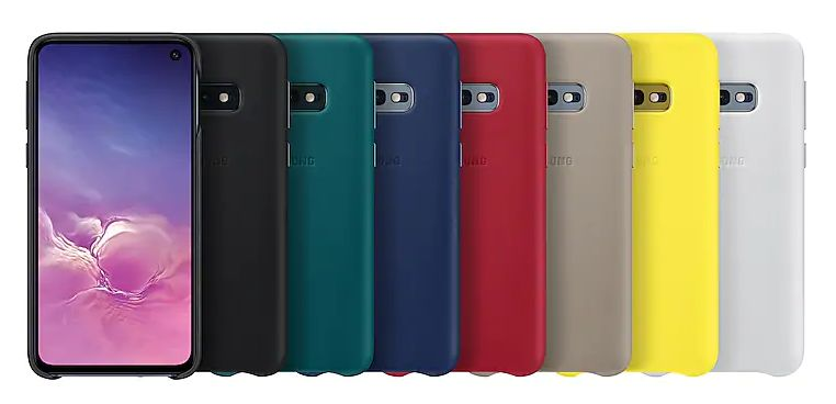 Galaxy S10e Leather Back Cover