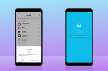 MIUI 10 face unlock for apps