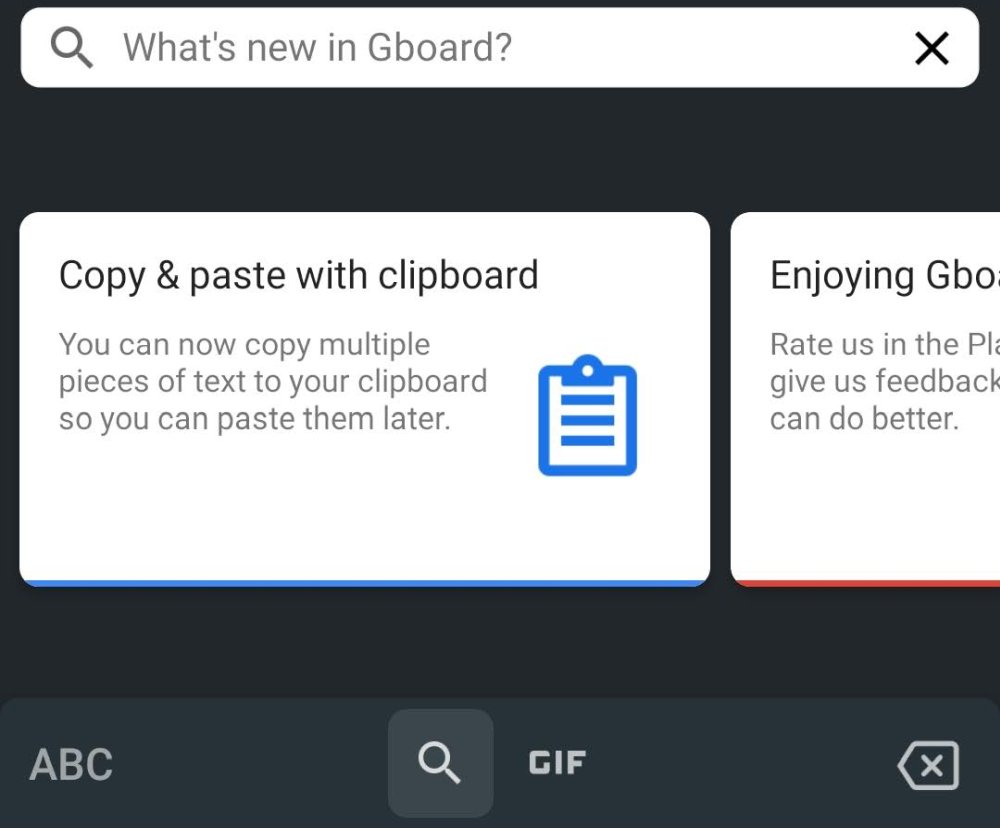 Gboard Clipboard feature