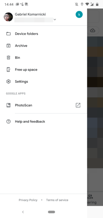 Google Photos New Nav Drawer
