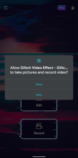 Video editor - glitch video effects - 3
