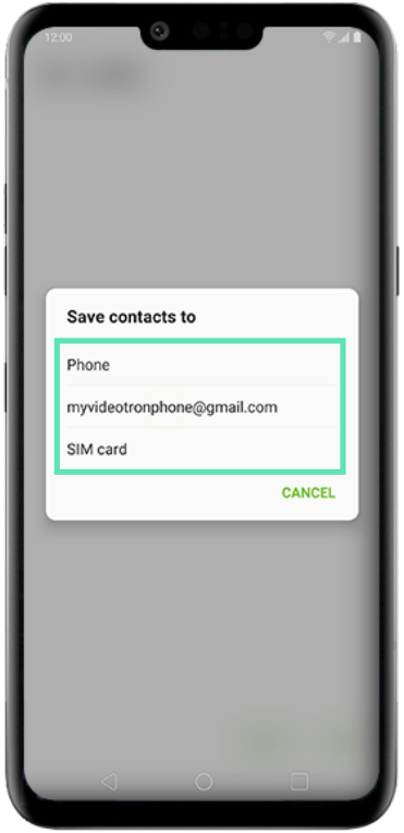 Add contacts on LG-3-b