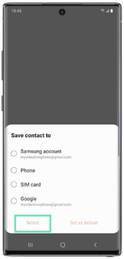 Add contacts on samsung-4-a