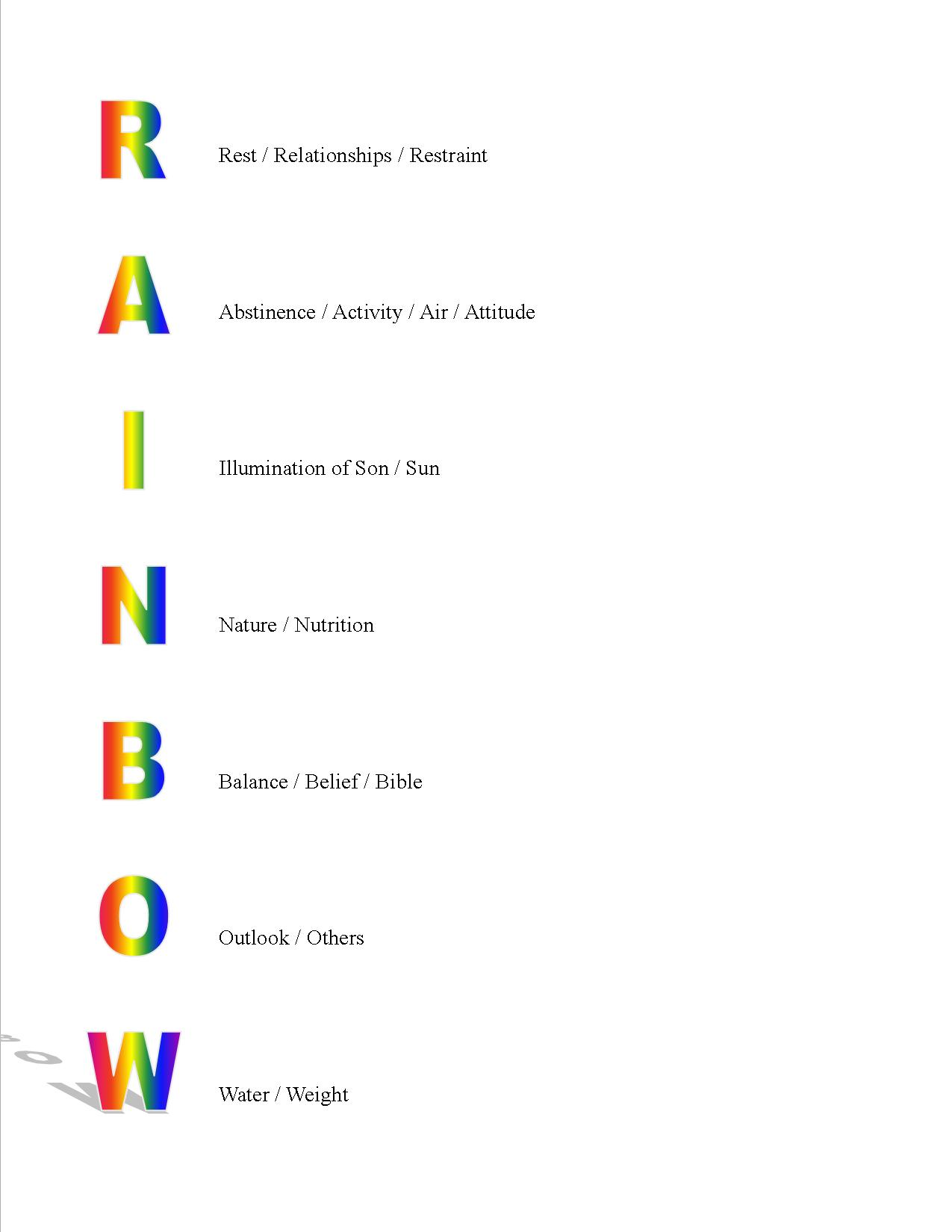 The Angel S Rainbow And His Rx For Health Rainbow Truth