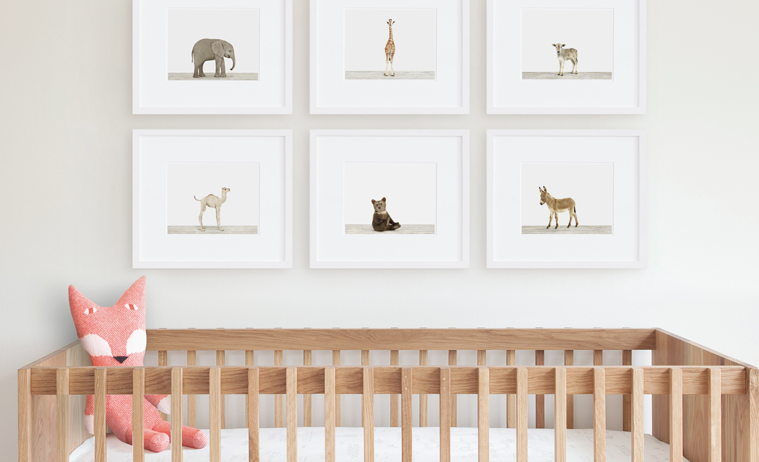 baby animal nursery art