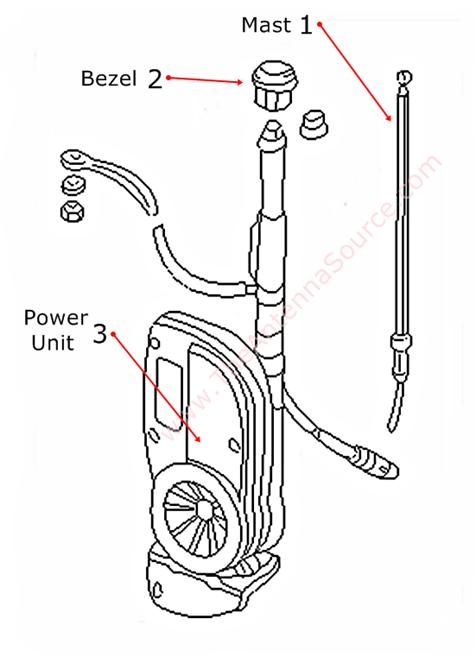 1998-2004 Jaguar Vanden Plas Antenna Parts, LNA4134AA