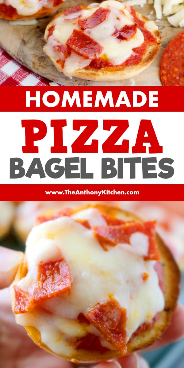 Homemade Pizza Bagel Bites