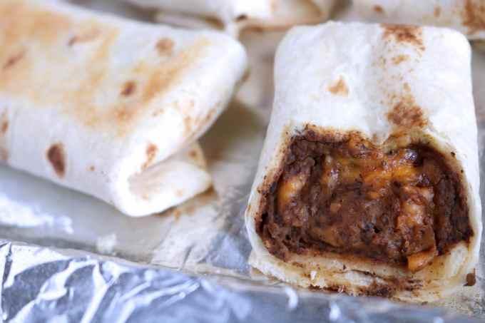 black bean and cheese burrito