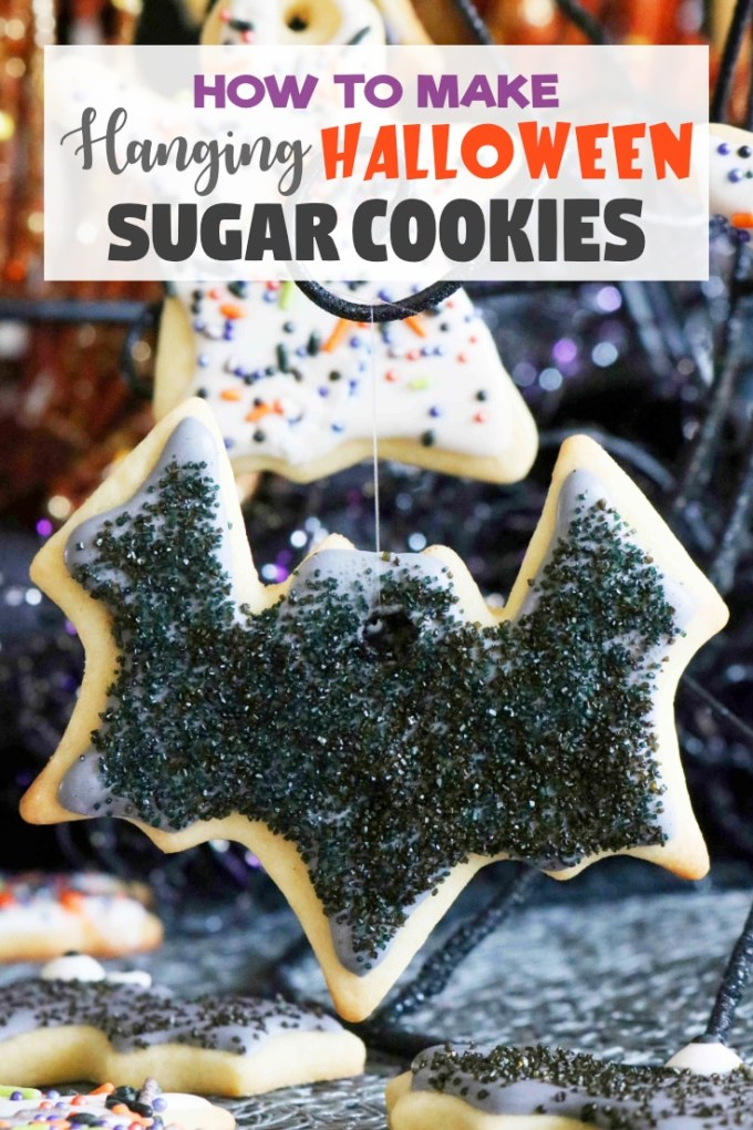 Easy Hanging Halloween Cookies with Royal Icing
