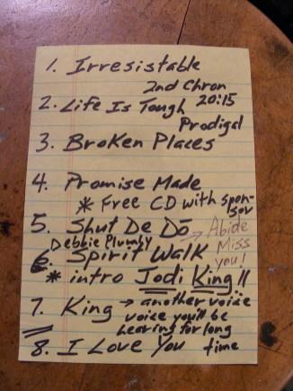 Randy Stonehill Setlist