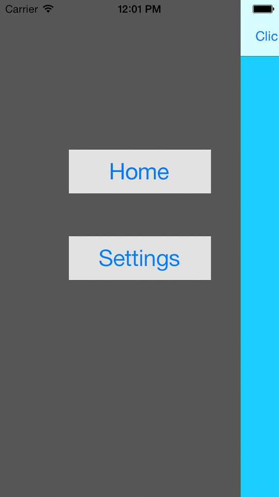 iOS Using Sliding View Controller