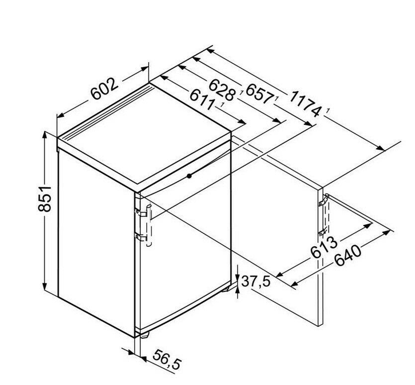 Liebherr GPesf1476 Freestanding Under Counter Freezer