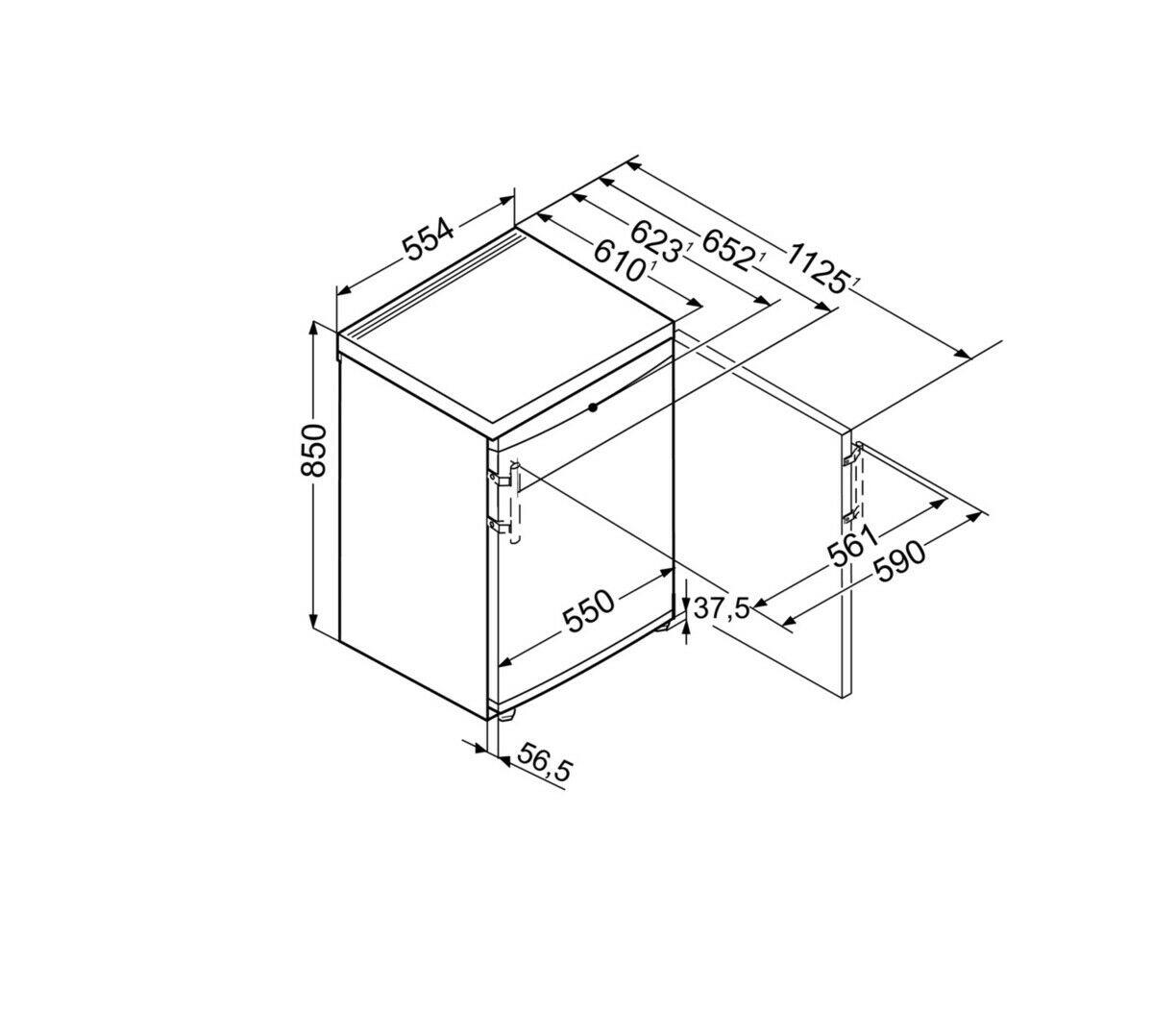 Liebherr TP1414 Freestanding Under Counter Fridge with