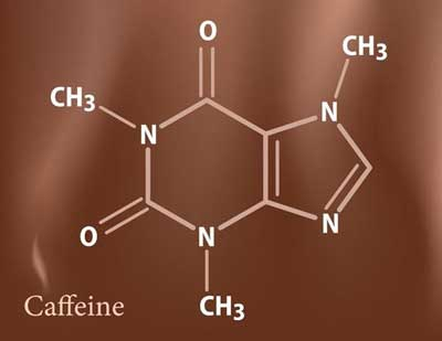 Fundamentals of pharmacology - caffeine molecule