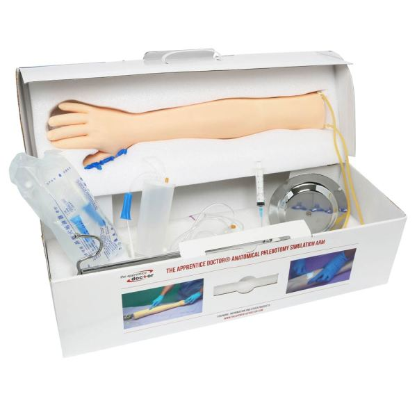 iv arm phlebotomy practice - inside the box