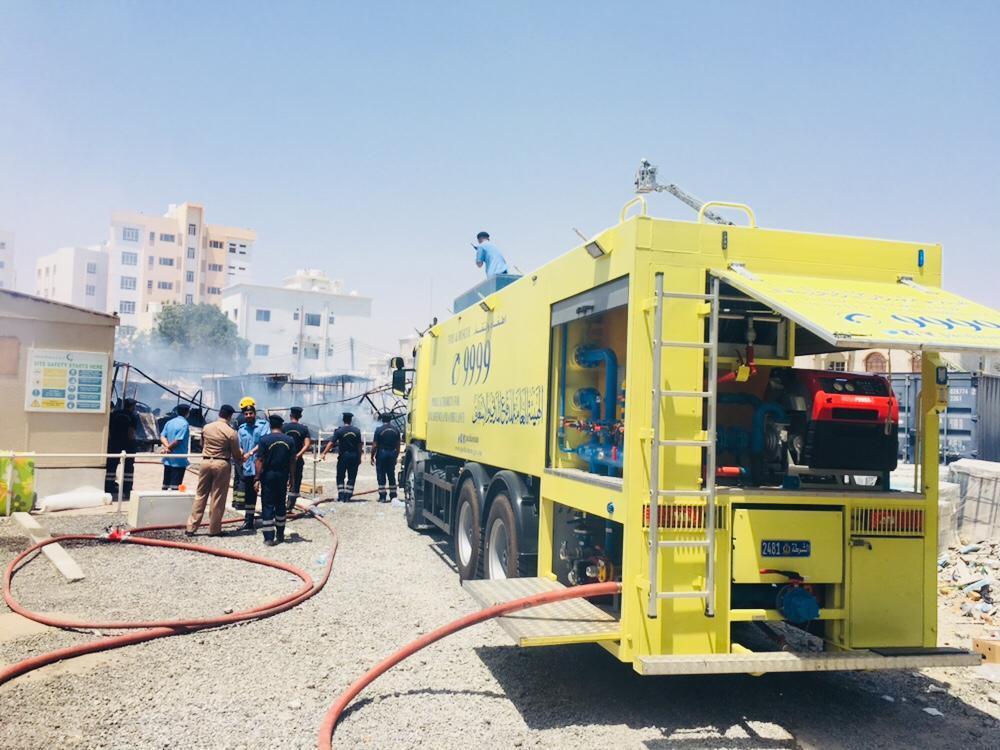 Oman Latest News : Caravans destroyed in fire in Al Ghubra