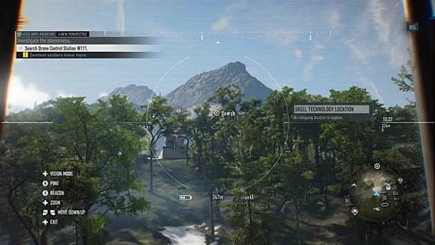 Skell research facility in the forest, viewing from Tower 7