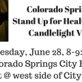 Colorado Springs Stand Up for Health Care Candlelight Vigil