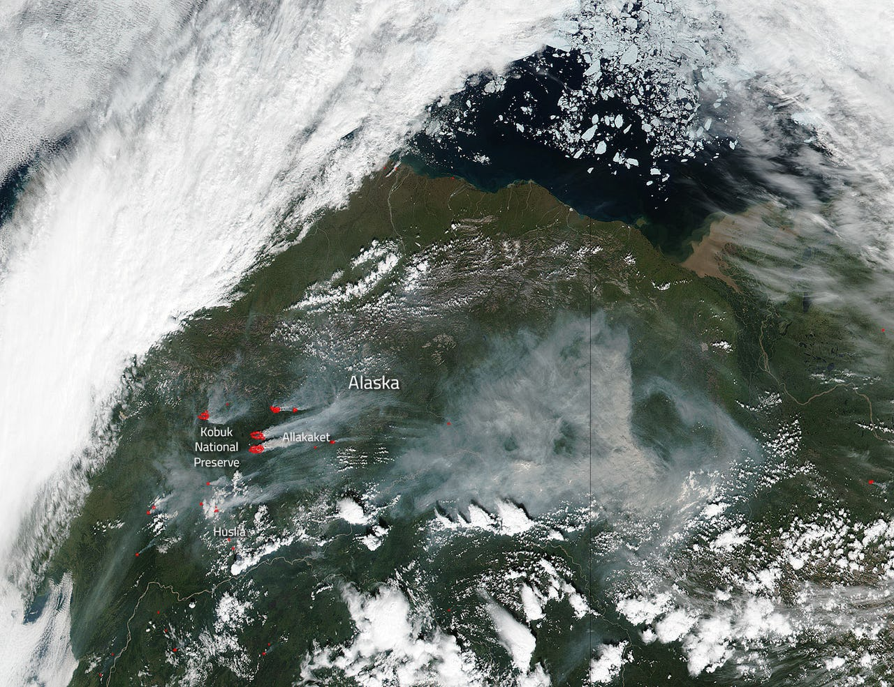Alaska wildland fire information map website showing active fires in alaska. Arctic Wildfires May Add To Global Warming The Arctic Institute