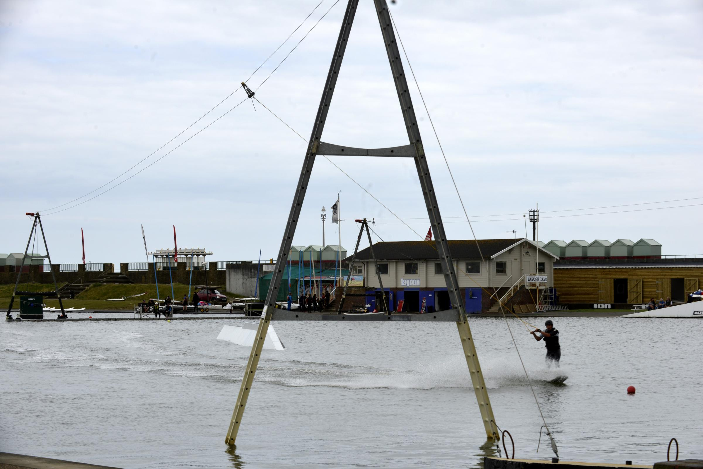 Wakeboarding is a popular activity at Hove Lagoon