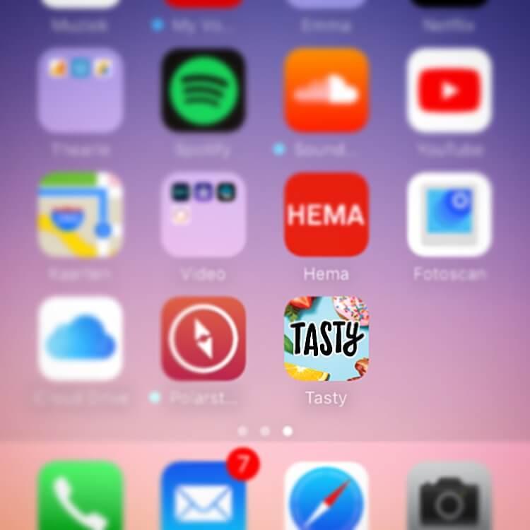 Tasty; een app op mijn telefoon | Thearie