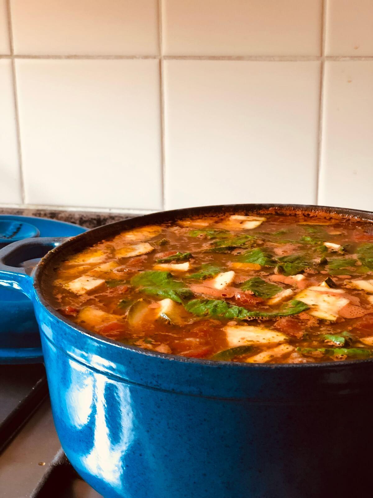 Recept heerlijke Minestronesoep