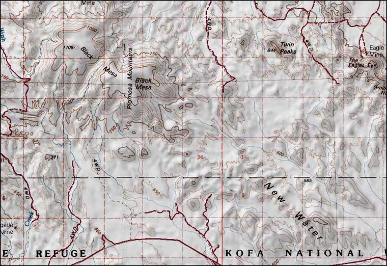 New Water Mountains Wilderness  BLM Sites in Arizona