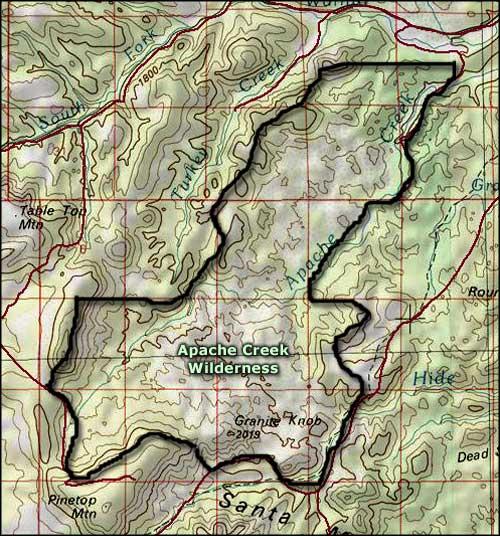 Apache Creek Wilderness  National Wilderness Areas in Arizona