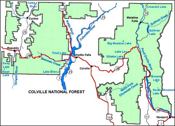 Colville National Forest The Sights and Sites of America