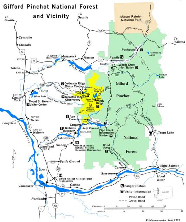 Gifford Pinchot National Forest The Sights and Sites of