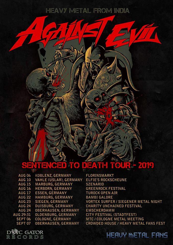 Against Evil - Tour