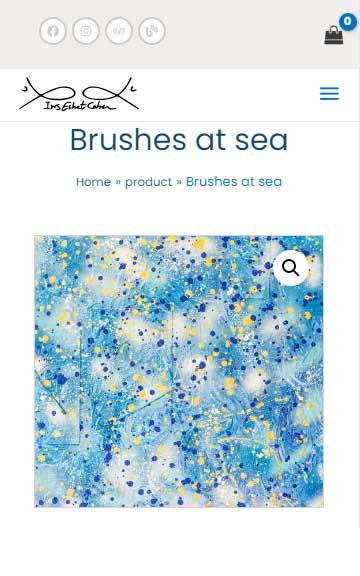 Brushes at sea - Painting-of-iris-eshet-cohen