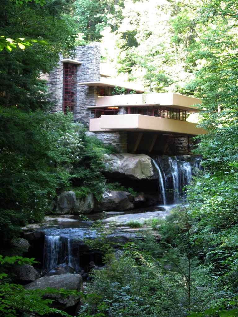 Wallpaper Falling Water Artblog On The Road Fallingwater In Summer