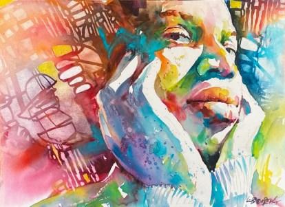 African Queen embellished portrait