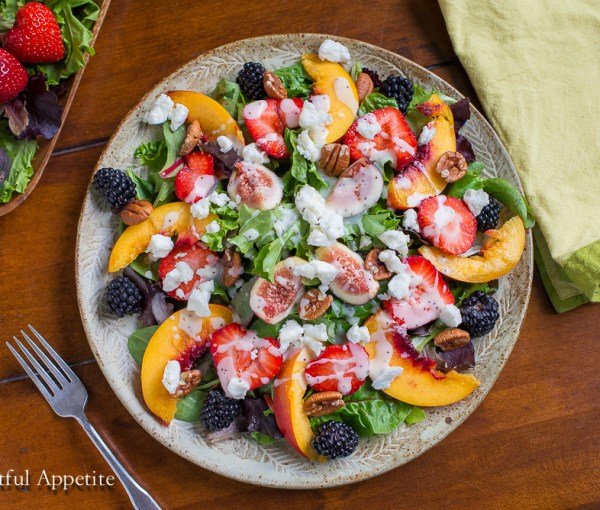 Summer Fruit Goat Cheese Salad