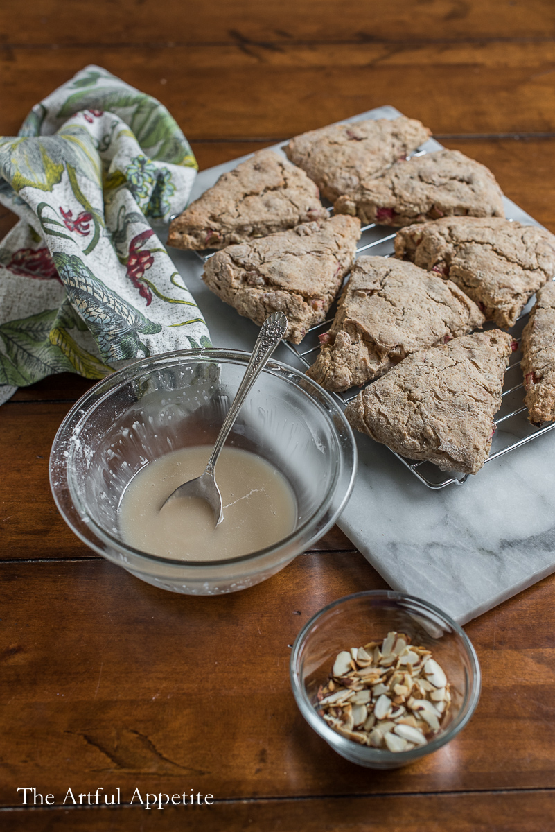 Rhubarb Almond Scones from The Artful Appetite