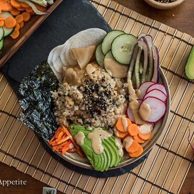 Vegan Super Veg Sushi Bowl The Artful Appetite