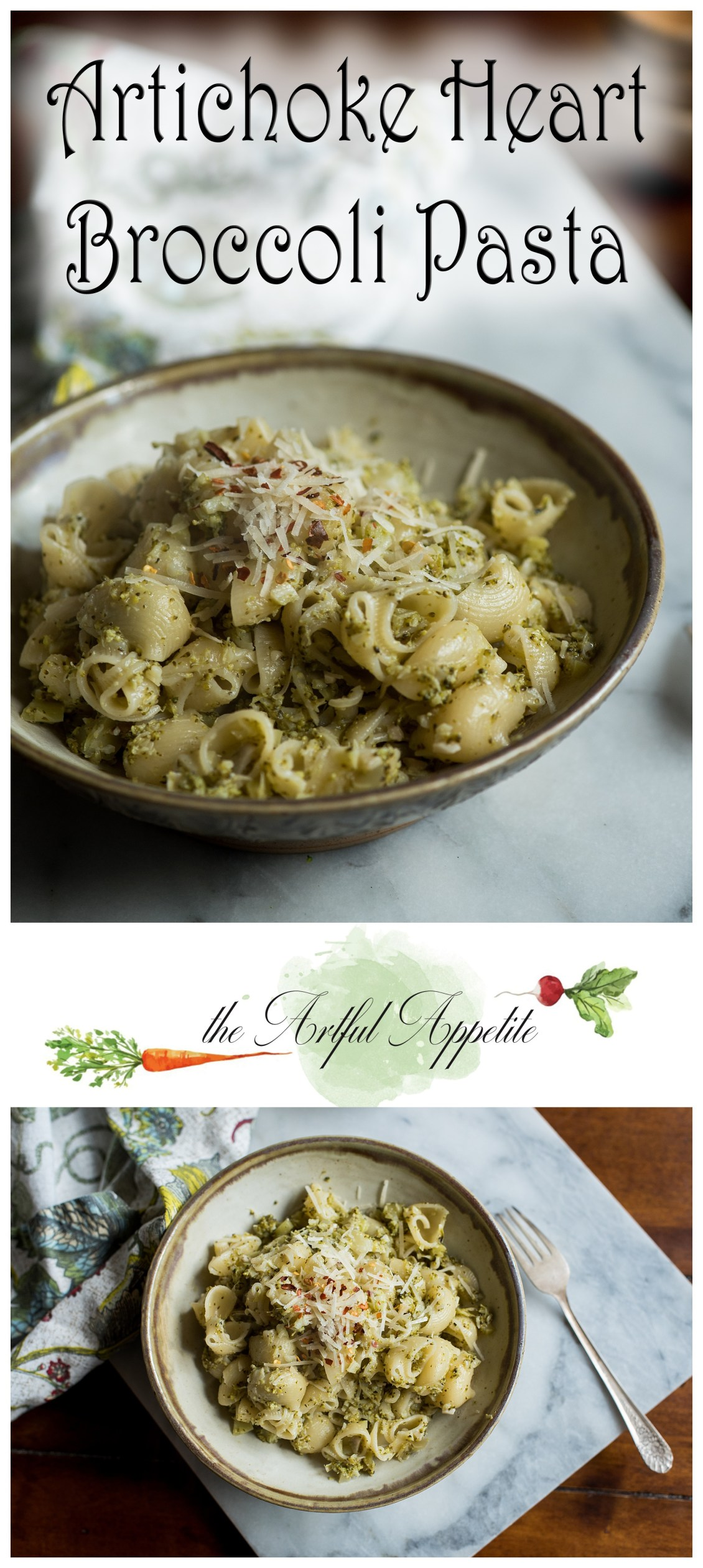 This Artichoke Heart Broccoli Pasta is simple, easy, healthy, and delicious!