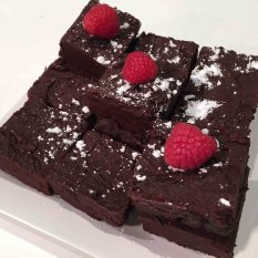 Black Bean Raspberry Brownies