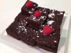 Black Bean Raspberry Brownies