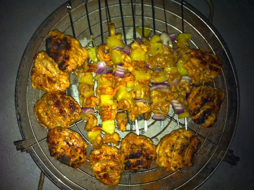 chicken and shrimp bbq