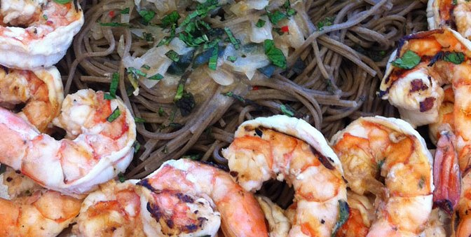 Tamarind Shrimp Soba Noodles