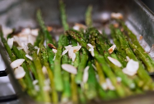 Roasted Lemon Asparagus Almondine