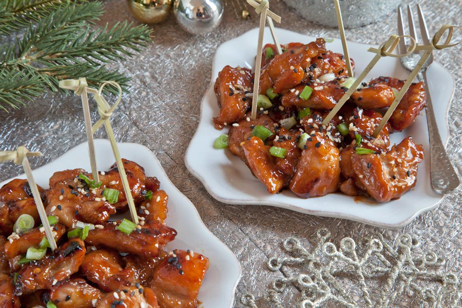 Sweet and Spicy Asian Chicken Bites