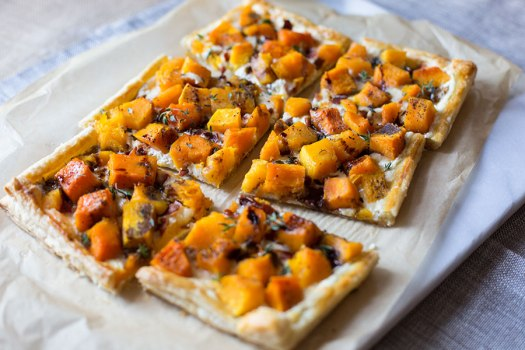 3 Cheese Butternut Squash Tart w/ Bacon