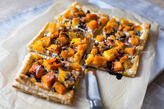 3 Cheese Butternut Squash Tart w/ Bacon