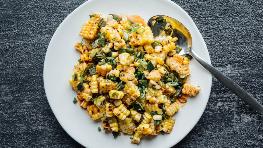 Grilled Corn and Poblano Salad