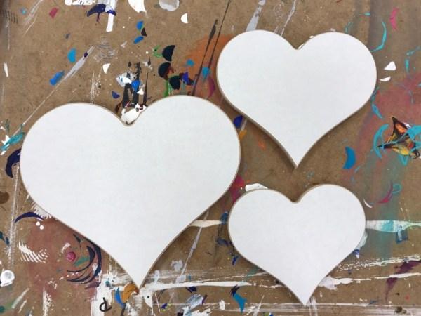 Creatief hobby materiaal hout hart 1
