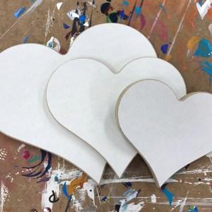 Creatief hobby materiaal hout hart 3